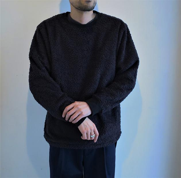 HOLLYWOOD RANCH MARKET ボアフリース クルーネックシャツ(4).jpg