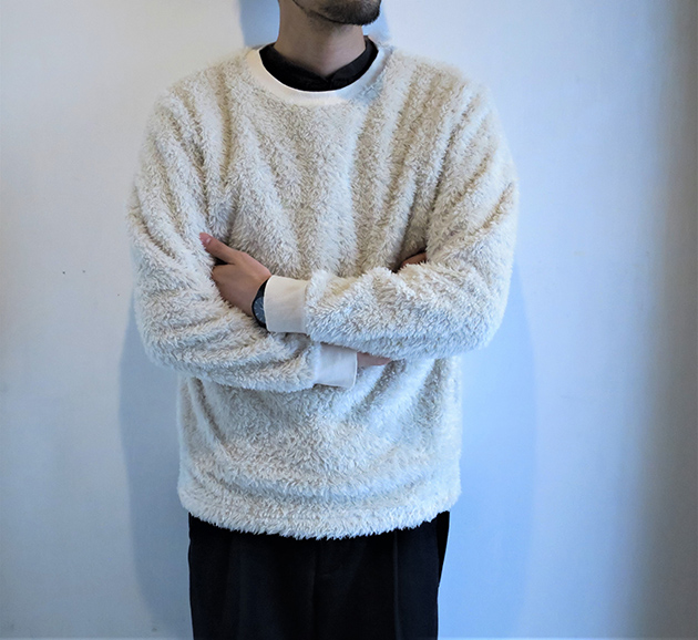 HOLLYWOOD RANCH MARKET ボアフリース クルーネックシャツ.jpg