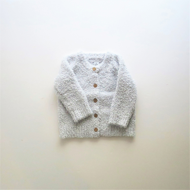 BAREFOOT DREAMS COZYCHIC INFANT HEATHERED CARDI.jpg