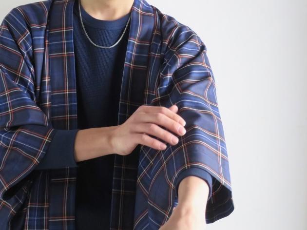 チルウール キナガシ ハオリ チェック BLUE BLUE JAPAN 3.jpg