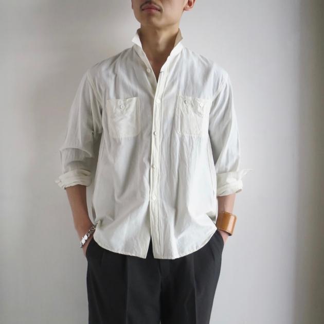AUBERGE オーベルジュ Serge Linen Shirts .jpg