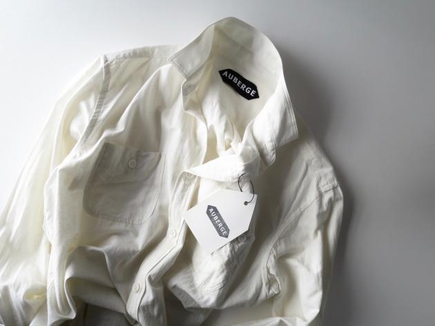 AUBERGE オーベルジュ Serge Linen Shirts 3.jpg