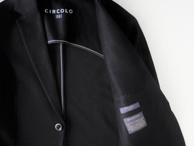 チルコロ リネン ジャケット CIRCOLO1901 ブラック.jpg