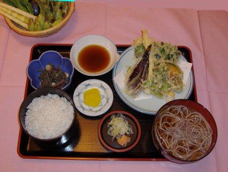 春の野菜天ぷら定食