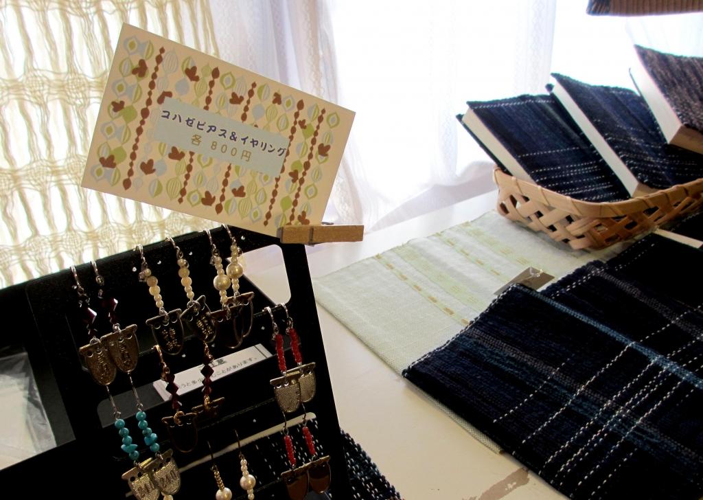 織物展示の様子2