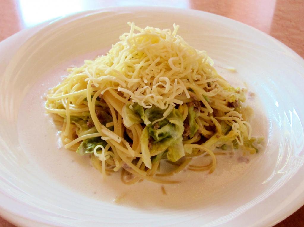 キャベツのミルクスープスパゲティー