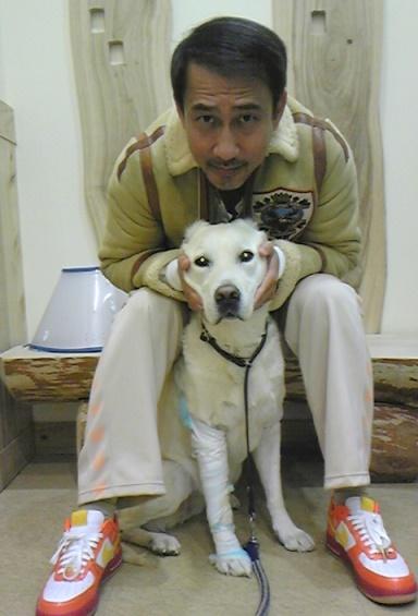 愛犬と中井貴一