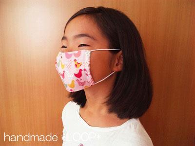 ダブルガーゼ・シンプルマスク Mサイズ着用見本☆
