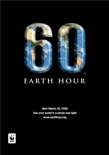 EarthHour2008ポスター