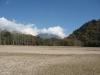 湖底から見る男体山
