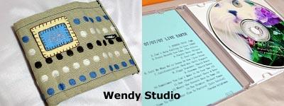 猫刺繍入り手作りカードケース&麗しのCD♪