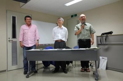 下津会長と山下副会長と立山副会長