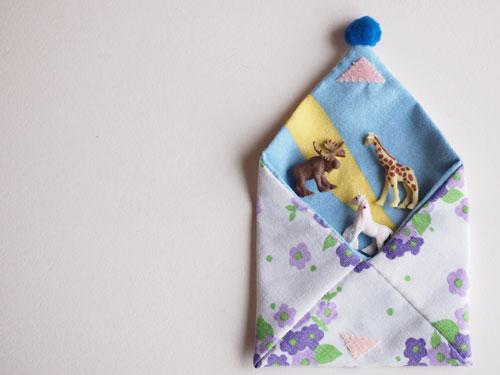 ヴィンテージファブリックの数奇屋袋