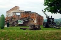 戦争博物館の大砲と建物