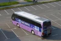 旅行中お世話になったバス