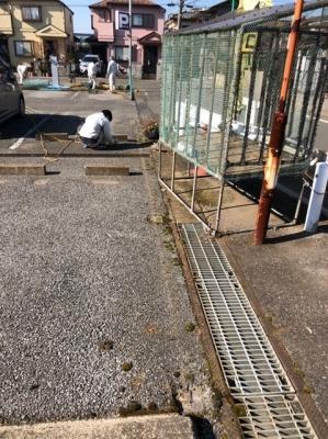 フェンス撤去・看板移設工事4.JPG