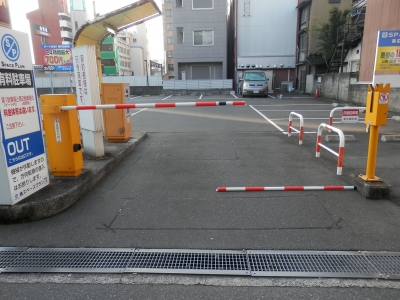 入口ゲートバー交換.JPG