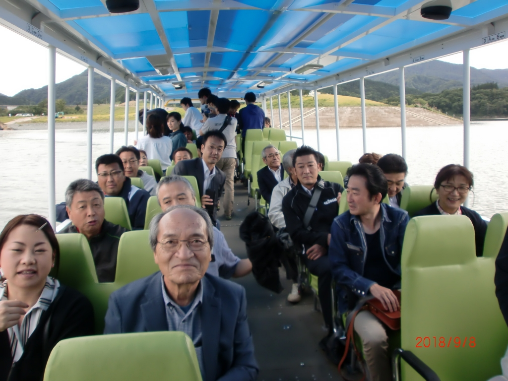 西目屋村・水陸両用バスの車内♪