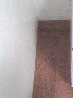 掃除後の壁