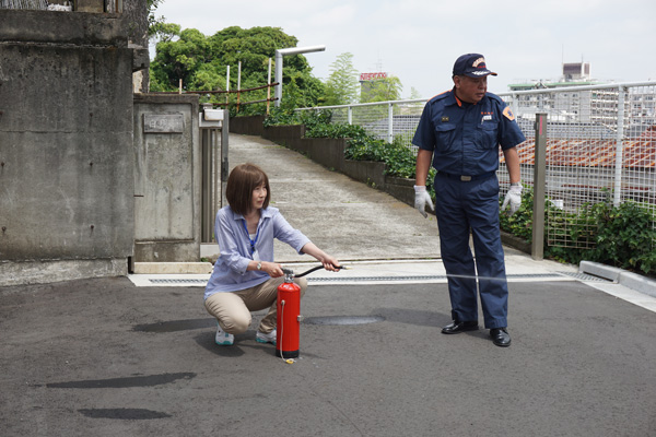 サティエで消防訓練