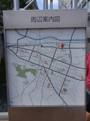 町田市役所周辺案内図