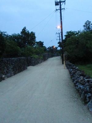 静かな竹富島の朝