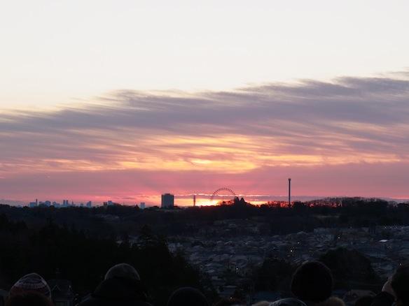 2013年元旦、初日の出