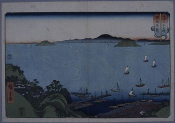 山海見立相撲(丸亀図)