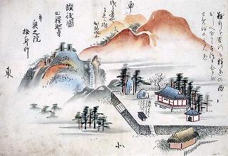中国四国名所旧跡図(出釈迦寺)