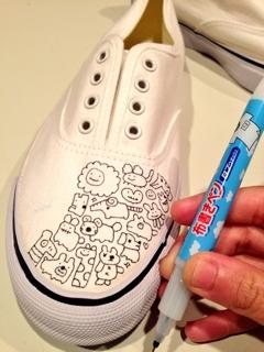 で、靴に落書きをして完成したのがこちら。