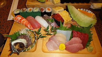 夕食(ひょうたん寿司)
