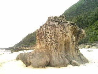 西表ナイヌ浜の奇岩