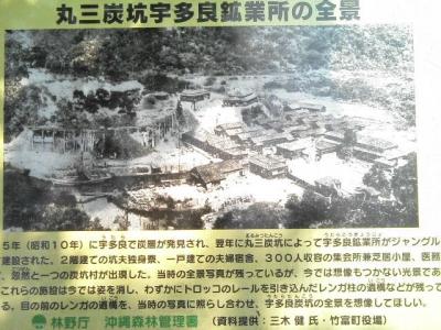 ウタラ炭坑跡案内板
