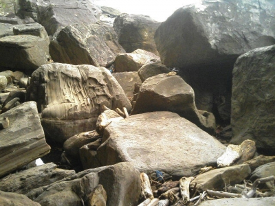 西表島沿岸部半洞窟テント岩