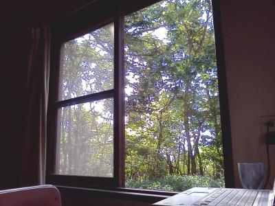 寮の部屋からの風景