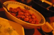 副理事のトラ豆カレー