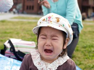 公園で大泣き・・・。