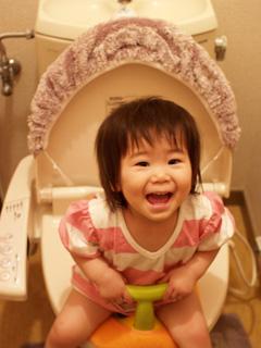 トイレのちび姫。