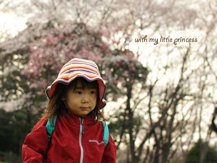 桜とちび姫。
