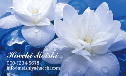 花のデザイン名刺 PPL-023A(ビューティーフラワー)