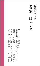ビジネスデザイン名刺 D-1001A(ライン)