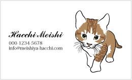 猫のイラスト名刺 IC-001A