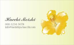 ハワイアンデザイン名刺 H-011A(ハイビスカス9)