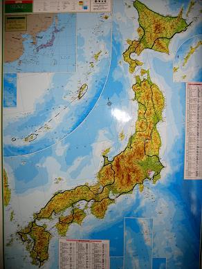 ルート研究のための日本地図