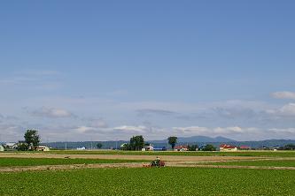 篠津農村風景