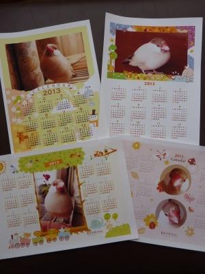 文鳥カレンダー2013年間バージョン