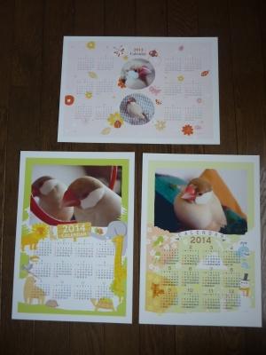 年間シナモン文鳥カレンダー3種