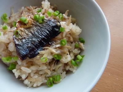 秋刀魚ごはん完成の図