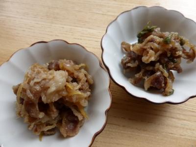 牛肉しぐれ煮(生姜、山椒)