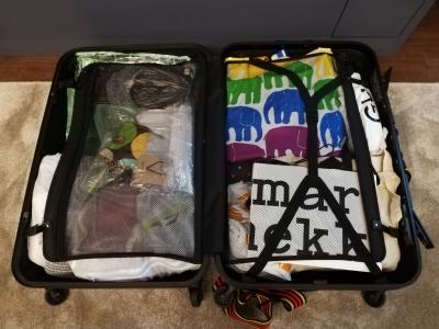 スーツケースはこんな感じ